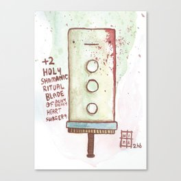 +2 Shamanic Ritual Blade Canvas Print