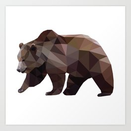 Kloth Bear Art Print