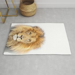 Lion Animals Art by Zouzounio Art Rug