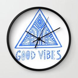Good Vibes Mindset Wall Clock