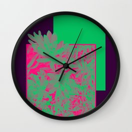 Neon Greenery #society6 #succulent Wall Clock