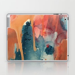 Pour Some Sugar on Me: a colorful mixed media abstract in pinks blues orange and purple Laptop & iPad Skin