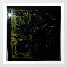 Darkend depths of color Art Print