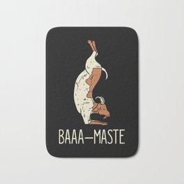 Goat Yoga Design: Baaa Maste I Namaste I Inner Peace I Yogi Bath Mat