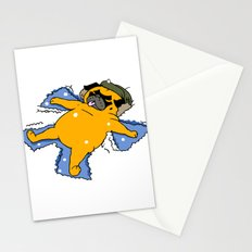 Snow Angel Pug Stationery Cards