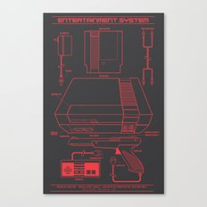 Entertainment System (dark) Canvas Print