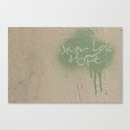 Keep Hope Alive Quote Canvas Print
