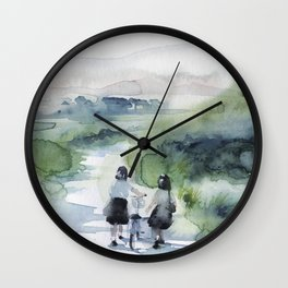 on my way home Wall Clock