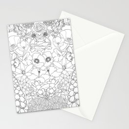 Mirrored Flowers Stationery Cards