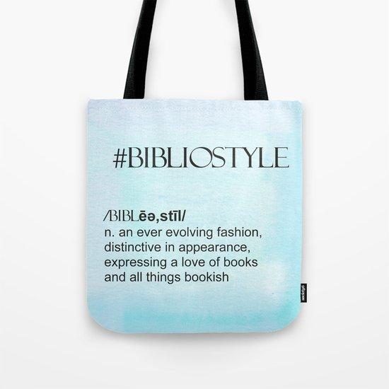 #bibliostyle Tote Bag