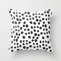 polka dot Throw Pillows featuring Polka dot by Lolita Stein