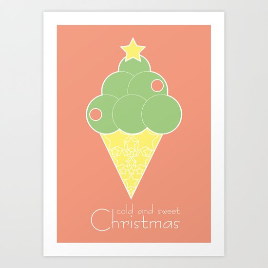 cold and sweet Christmas Art Print