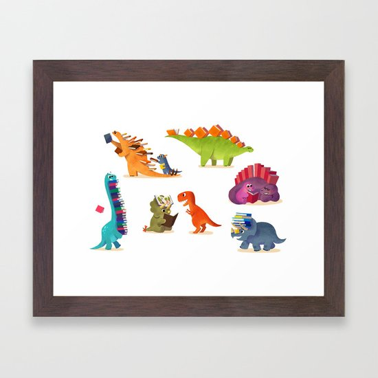 BOOK DINOSAURS by bonniepangart