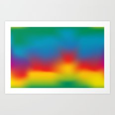 Abstract Colorful Aurora Art Print
