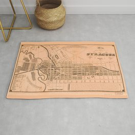 Map of the Village of Syracuse and Lodi, New York (1834) Rug