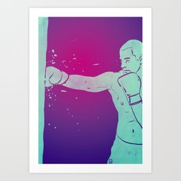Boxing Club 6 Art Print
