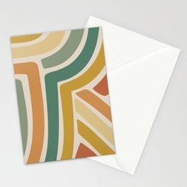 Abstract Stripes III Stationery Cards
