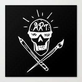 Art Skull Canvas Print