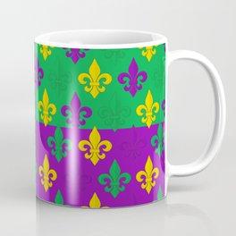 Mardi Gras Fleur-de-Lis Pattern Coffee Mug