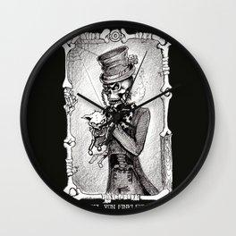 Dead Kitty in a tea cup Wall Clock