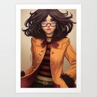 olivia joy Art Prints featuring Olivia by Rafa ArSen