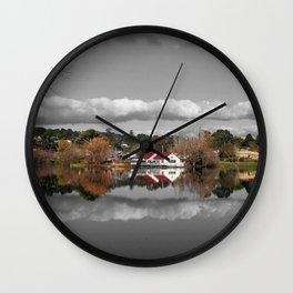 Lake Daylesford Winter Reflections Wall Clock