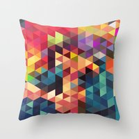 sword Throw Pillows featuring pattern sword by Alexandr-Az