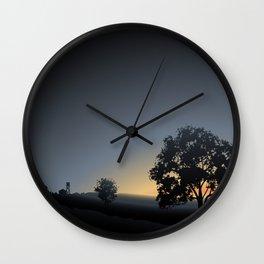 sunrise views Wall Clock