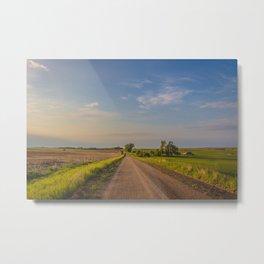 Country Road, North Dakota 24 Metal Print