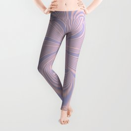 Whirly Bloom Fractal in Rose Quartz and Serenity Leggings