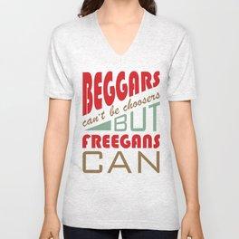 Beggars & Freegans Unisex V-Neck
