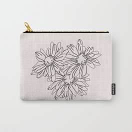 Daisy flowers line drawing - Nina I Carry-All Pouch