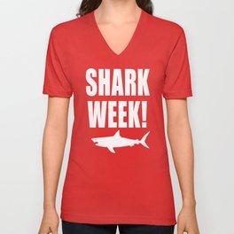 Shark week (on black) Unisex V-Neck