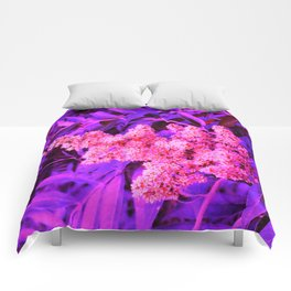 Pink and Blue Sideways Sumac Comforters