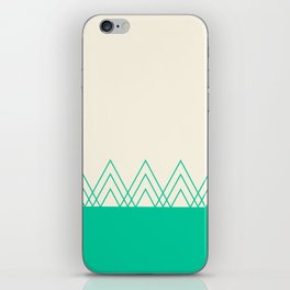 Mint Triangles iPhone Skin