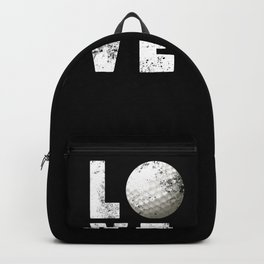 Love Golf design Funny Gift for Golfers Backpack