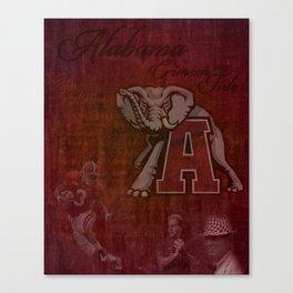Alabama Crimson Tide University Roll Tide Canvas Print