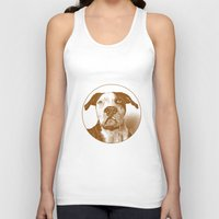 pit bull Tank Tops featuring Pit Bull by George Peters