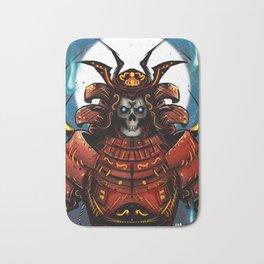 Skull Samurai Bath Mat