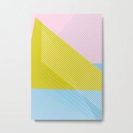 West Coast Color Lines Metal Print