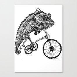 Wheeling Chameleon Canvas Print