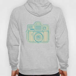 I Still Shoot Film Holga Logo - Turquoise/Tan Hoody