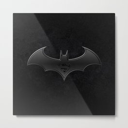 Superman - Bat man Metal Print