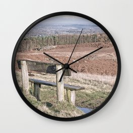 Overlooking Leicestershire from Bradgate Hill Wall Clock
