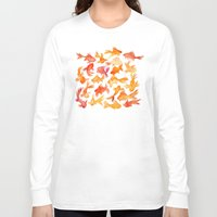 goldfish Long Sleeve T-shirts featuring Goldfish by Cat Coquillette