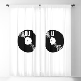 Dj record music logo Blackout Curtain