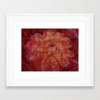 techno Framed Art Prints featuring Techno Asian by DesignsByMarly