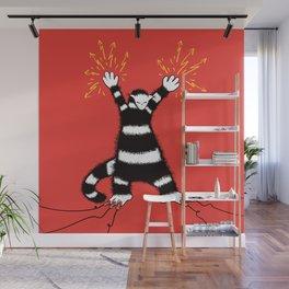 Weird Electro Cat Wall Mural