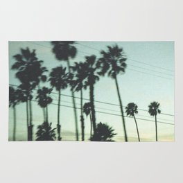 Los Angeles Palm Trees Rug
