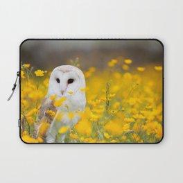Little Owlet in Flowers (Color) Laptop Sleeve